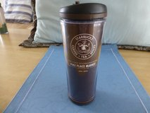 Starbuck Coffee cup brown in Okinawa, Japan