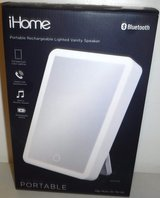 New! iHome LED Vanity Mirror Bluetooth Audio, USB Phone Charger, Siri Google in Naperville, Illinois