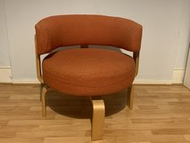 Vintage Ikea Fridene Swivel Bent Wood Arm Chair Orange in Wiesbaden, GE
