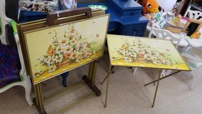Vintage Retro TV Tray-Tables with Stand #2504-147 in Camp Lejeune, North Carolina
