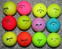 12 colored golf balls used in Naperville, Illinois