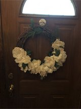 hHome goods white wreath for spring in Naperville, Illinois