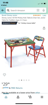 Mickey Mouse Table And Chair in Kingwood, Texas