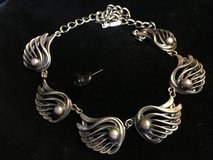 Winged medallion vintage sterling necklace in Alamogordo, New Mexico