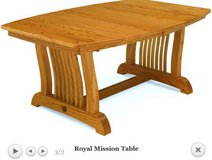 Oak Mission Style Dinning Table with leaves in Naperville, Illinois