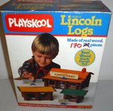 Playskool Lincoln Logs 170pc Wood Cabin building Set in Naperville, Illinois