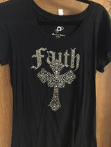 """Faith"" bling ladies top in Spring, Texas"