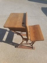 Vintage Wooden School Desk in Fort Campbell, Kentucky
