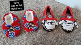 Boys slippers size 7/8 brand new both for $5 in Morris, Illinois