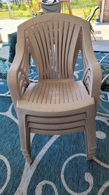 Hard plastic arm chairs (4) need cleaning in Cherry Point, North Carolina