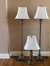 Matching 3-Way Decorative Lamps in Naperville, Illinois