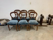 Imported English Victorian Mahogany Balloon Back Chairs in Alamogordo, New Mexico
