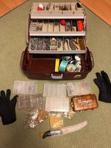 Fishing Tackle box FULL with misc items in Okinawa, Japan