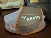 Baby/toddler pop-up travel beach tent (Kilofly) in Okinawa, Japan