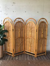 4 Panel Rattan Divider Boho Home Decor in Okinawa, Japan