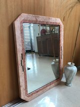 Large Vintage Pink Acrylic Marble Mirror Southwestern Home Decor in Okinawa, Japan