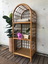 Rattan Shelf Boho Home Decor in Okinawa, Japan