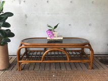 Rattan Coffee Table Boho Home in Okinawa, Japan
