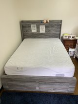 Queen size bed frame & mattress in Okinawa, Japan