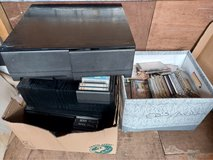boxes of cassette tapes, storage, vhs and cds. price is for all in Lakenheath, UK