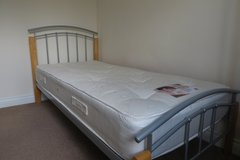 Single Flexi Slat Bed with Pocket Sprung Mattress Excellent condition in Lakenheath, UK