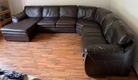 4 Piece Sectional Couch Chocolate Brown Only in Ramstein, Germany