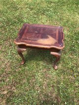 wooden end table in Camp Lejeune, North Carolina