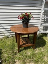 Dark brown wood  end  table or patio in St. Charles, Illinois