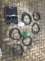 3 Microphones and cables in Ramstein, Germany