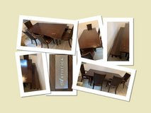 XL Dining Table, 4 Chairs & Bench in Ramstein, Germany