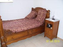 Antique Child's Bed and Antique Night Stand in Ramstein, Germany