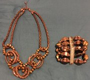 Beautiful  copper color necklace, bracelet and earrings. in Kingwood, Texas