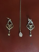 Necklace and earrings in Kingwood, Texas