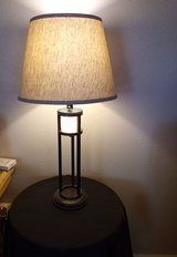 tall table lamp with night light  new shade in Alamogordo, New Mexico