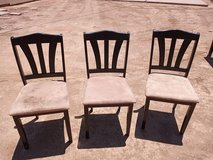 3 wood  chairs They need cleaning their Pretty Dirty but all 3  for  / $10 in Alamogordo, New Mexico