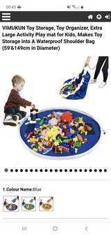 Blue Waterproof Toy Storage Drawstring Play Mat in Lakenheath, UK