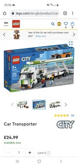 New Lego City Car Transporter 60305 in Lakenheath, UK