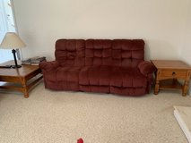 Recliner sofa & loveseat + 2 solid wood end tables & solid wood Coffee table (made by the amish) in Camp Lejeune, North Carolina