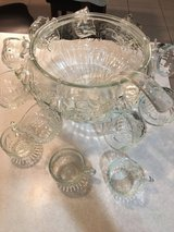 Vintage glass punch bowl in Kingwood, Texas