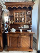 gorgeous Art Nouveau dining room hutch with facetted glass in Stuttgart, GE