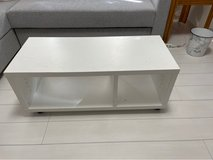 white table with wheels installed. 90x39x36cm in Okinawa, Japan