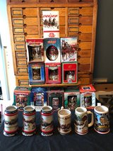 Budweiser Holiday Stein Set Vintage Clydesdale Christmas Collection in Cherry Point, North Carolina
