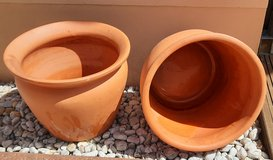 Large fired clay pots-good condition! in Spangdahlem, Germany