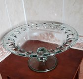 Pretty tall glass bowl with foot for fruit, decoration - New! in Spangdahlem, Germany
