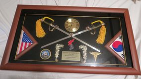 wall sword clock display ( good for any offices display ) ( size = 18'' X 32'' )(reduced) in Okinawa, Japan