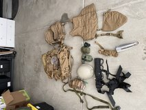 Gear and equipment in Camp Pendleton, California