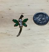 Gold Plated and Jade Dragonfly charm in Okinawa, Japan