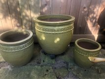Glazed Garden Containers in Kingwood, Texas