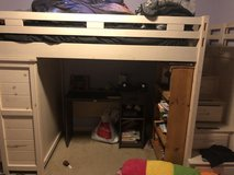 Twin loft bed with attached dresser . 2 years old. in Conroe, Texas