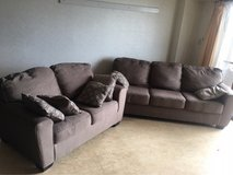 Very good condition Sofa, Cough and pillows in Okinawa, Japan